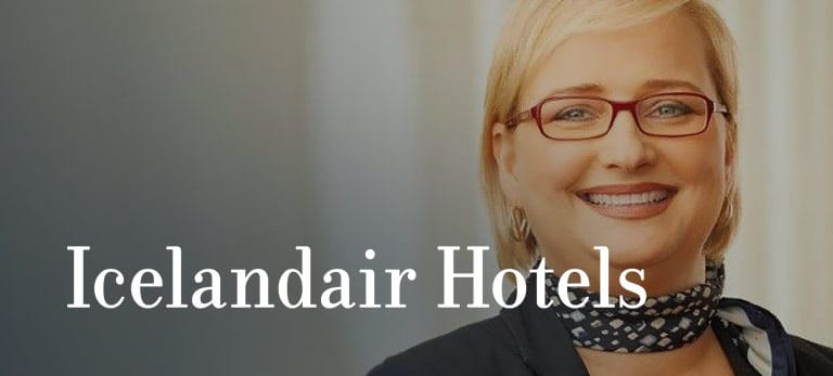 Icelandair Hotels logo, eloomi customers using LMS for onboarding process