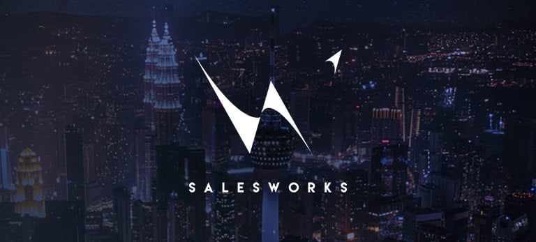 SalesWorks logo, eloomi customer using LMS solution for training and development