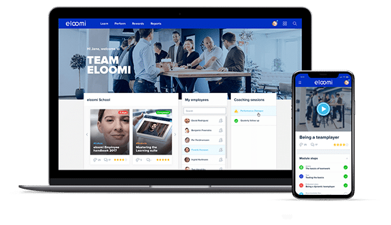 eloomi LMS on multiple devices