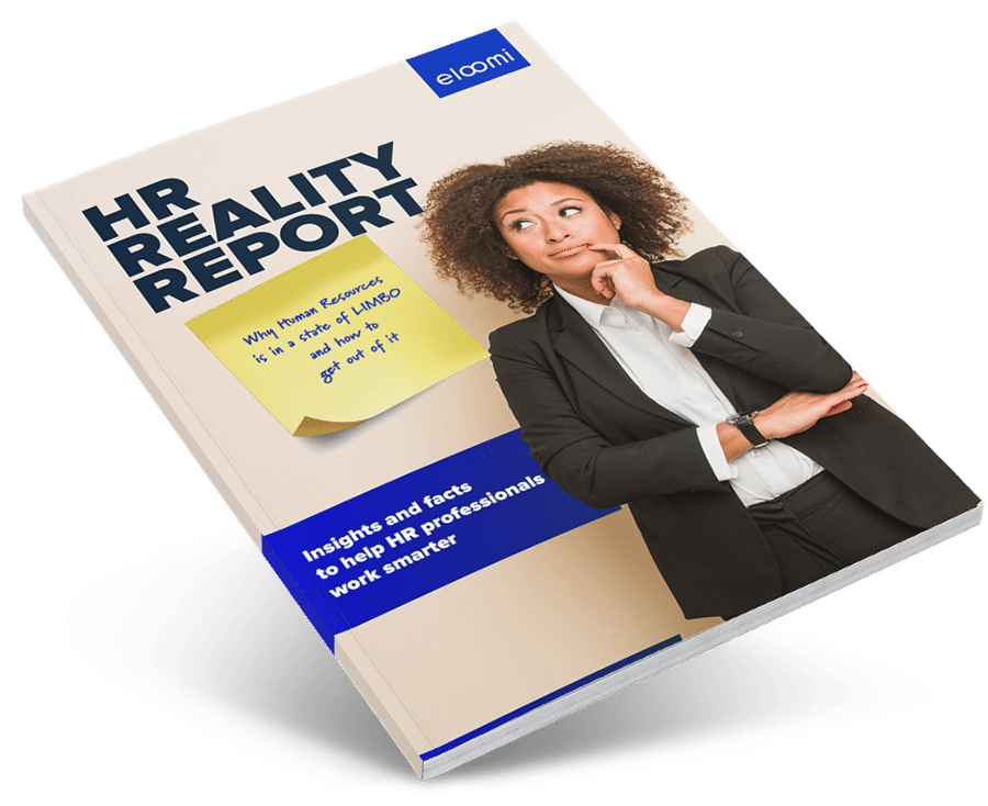 HR reality report by eloomi - cover on clean background