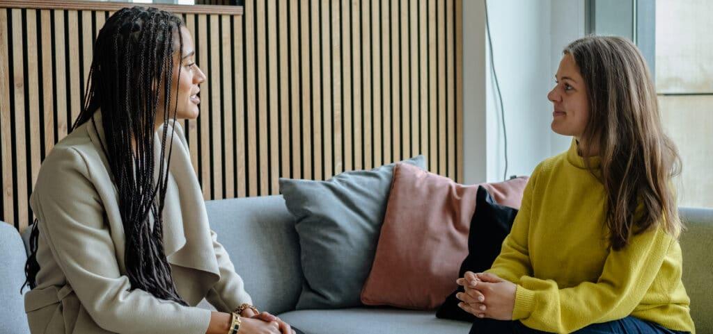 Athena and Lisa talking