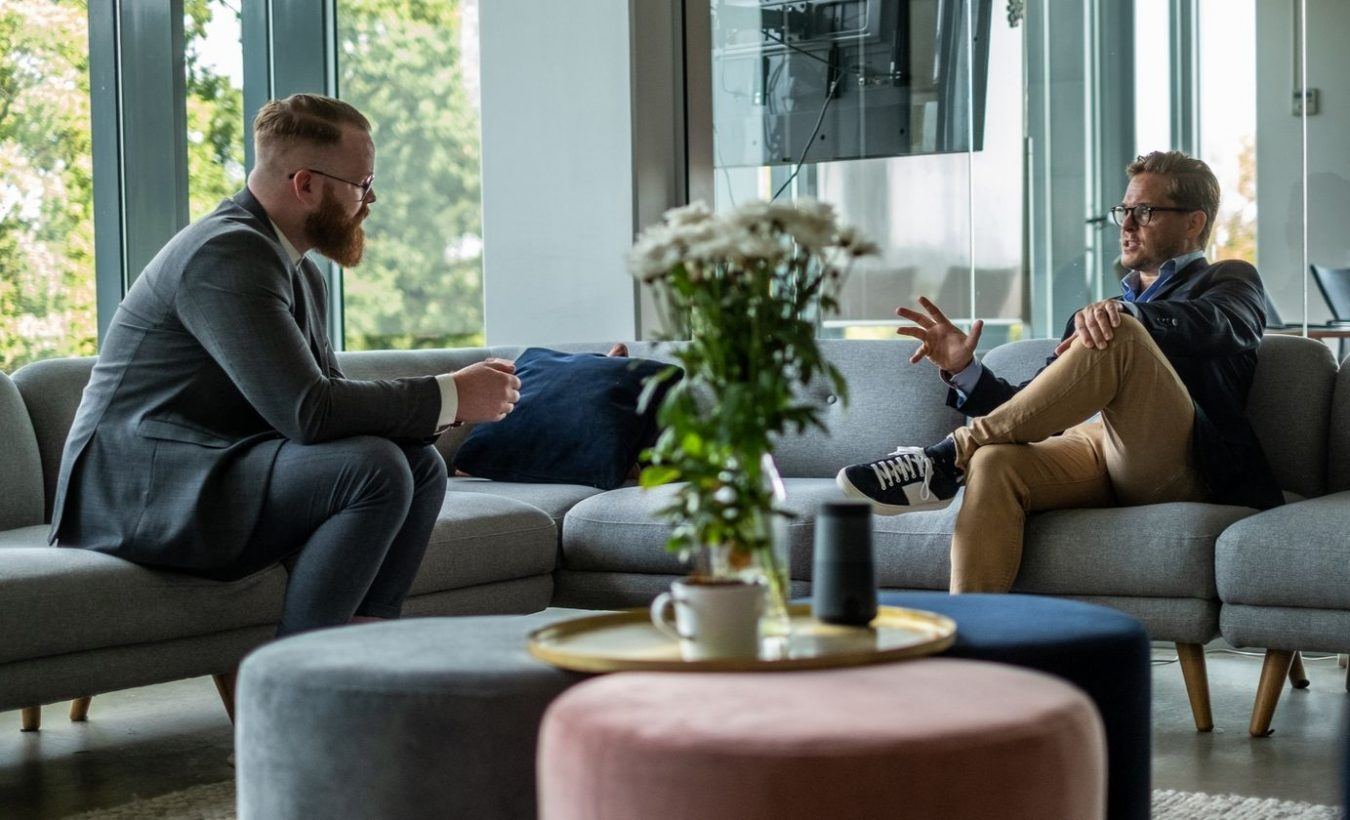 Men discussing
