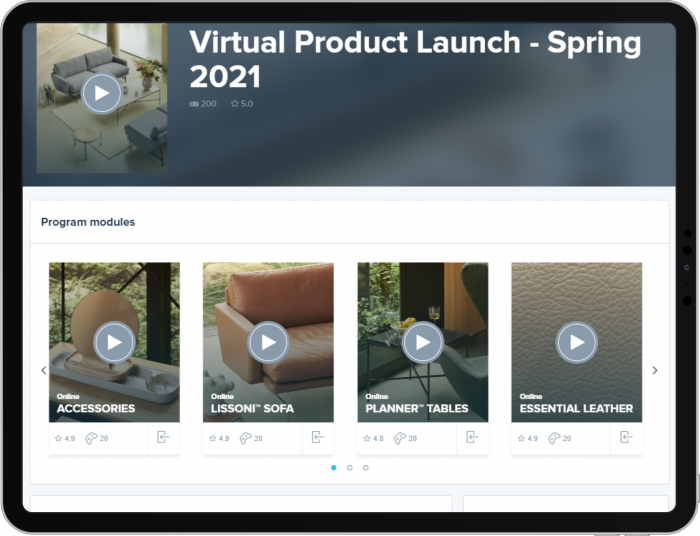Company virtual product launch example