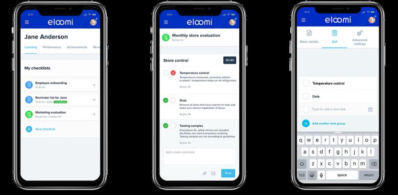 checklists screens mobile